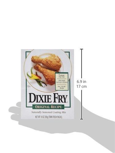 Dixie Fry Original Recipe Naturally Seasoned Coating Mix, 1 Box (10 oz) by Dixie Fry (Image #2)