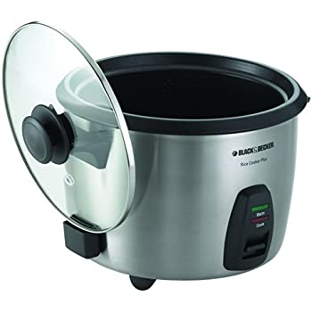 BLACK+DECKER RC866C 10-Cup Dry/20-Cup Cooked Rice Cooker, Black/Silver