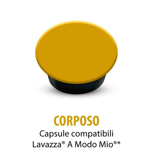 9 opinioni per 100 capsule compatibili Lavazza A Modo Mio caffè Corposo Italian Coffee (20cps.