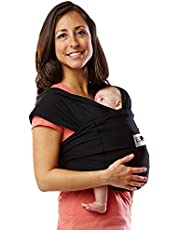 Baby K'tan Cotton Black Baby Carrier (Medium)