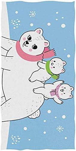 EXking Schattige Polar Bear Handdoeken voor Badkamer Decoratieve GastHanddoeken Multifunctioneel voor Gym en Hotel