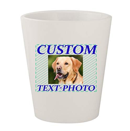 Custom Printed 1.5oz Ceramic White Shot Glass CP06 - Add Your Image Photograph Text or Design - Graphic Mug  