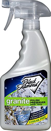Granite Marble Polish Preserver: Wax & Protectant – Best Protector & Care Product for Easy Maintenance Countertops, Shower Walls, Streak-Free Finish. Black Diamond Stoneworks - Marble Wax