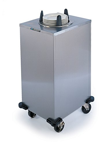 Lakeside 5111 Regular Plate Dispenser, Stainless Steel Cabinet, 1 stack- Non-Heated, Mobile Unit, Accommodates Plates 10-1/4 to 11-inches, NSF listed, Overall size 18-1/2 x 22-1/2 x ()