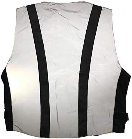 XL Frank Thomas Ultra Hi Viz Vest Motorcycle Relfective Safety Silver J/&S