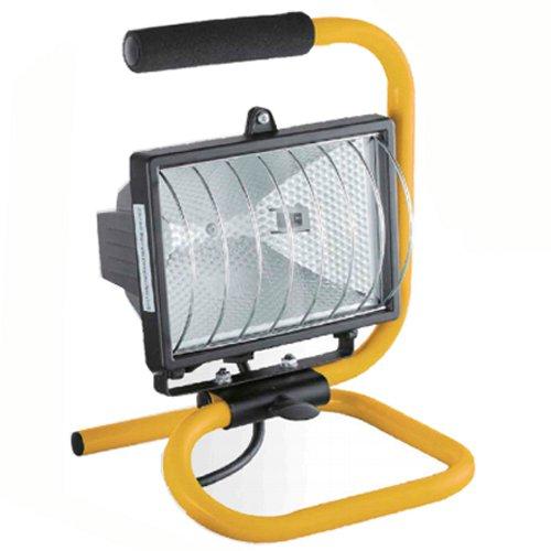 500W FLOOD LIGHT STAND ADJUSTABLE WORK SITE LAMP HAND HELD 265V PORTABLE HALOGEN MARKSMAN