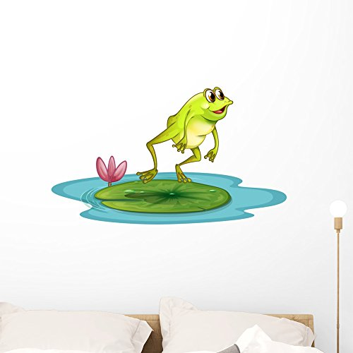 (Wallmonkeys Frog Pond Wall Decal Peel and Stick Graphic (36 in W x 22 in H) WM19809)