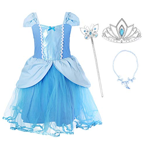 JerrisApparel Girl Princess Costume Dress for Birthday Party