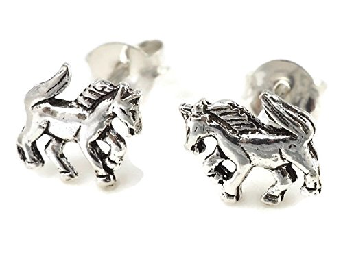 925 Sterling Silver Earring Cartilage For Women Ear Stud Helix Pony Horse 5/16