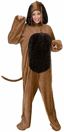 OvedcRay Adult Mens Womens Big Brown Dog Costume Puppy Canine Farm Animal Pet Jumpsuit