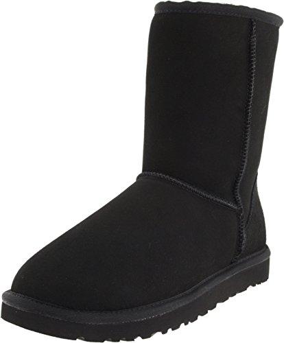 UGG Men's Classic Short Sheepskin Boots, Black, 12 D(M) US (Black Ugg Boots Classic Short)