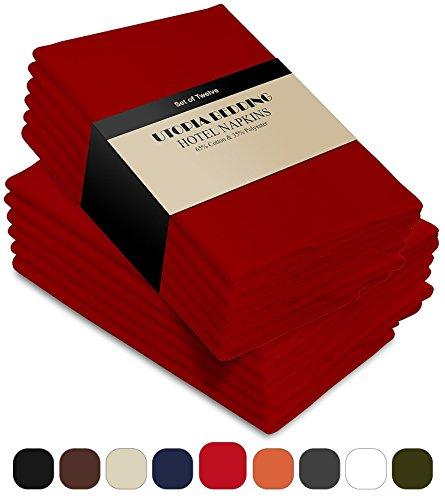 red restaurant napkins - 3