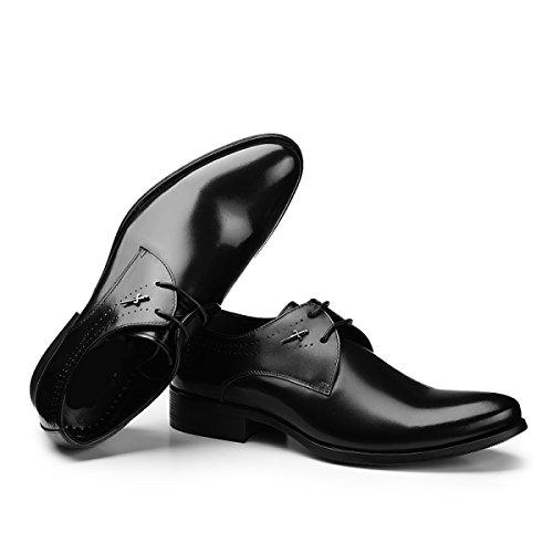GRRONG Hommes Chaussures Habillées D'affaires De La Mode La Mode Rétro Chaussures Respirantes Black 2OKoChGcVq