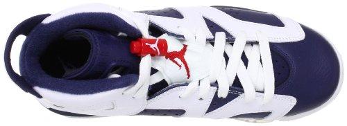 Nike Air Jordan 6 Retro Gg, Zapatillas De Baloncesto para Niñas white/midnight navy-varsity red