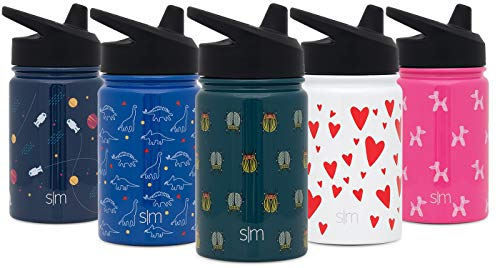Simple Modern 10oz Summit Sippy Cup for Toddlers - Infant Water Bottle Vacuum Insulated Cups Double Wall Kids Hydro Travel Mug 18/8 Stainless Steel Flask Pattern: Beetles ()