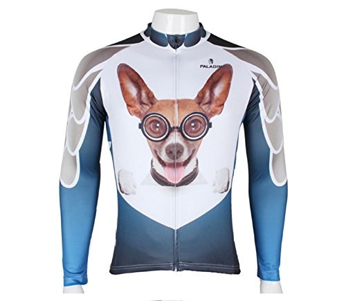 Oregon State Cycling Jersey (Highly Elastic Cycling Jersey Sportswear Breathable Outdoor Long Sleeve (M, Dog))