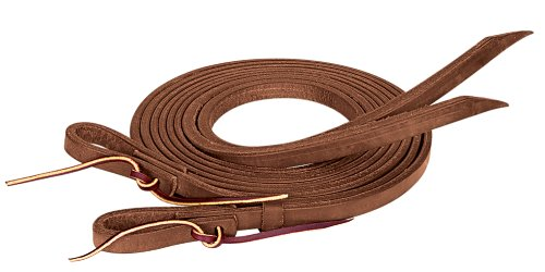 Weaver Leather ProTack Oiled Split Rein, 3/4-Inch x 8-Feet, Brown