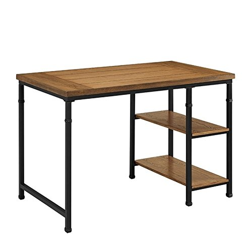 Austin Two-Shelf Computer Desk — Black and - The Austin Domain Stores