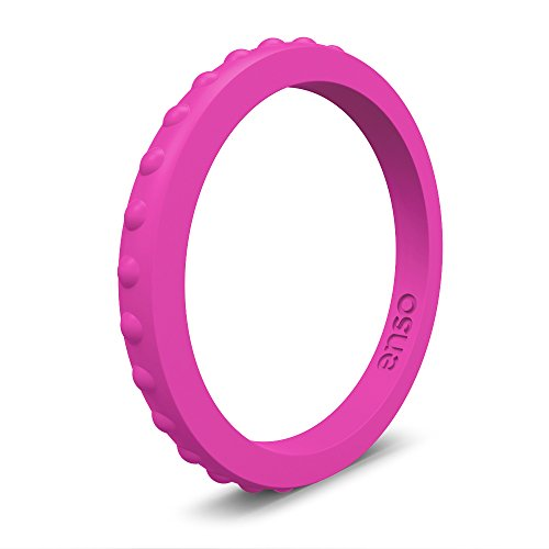 - Enso Rings Enso Studded Silicone Ring Functional Wedding Rings for The Gym, Sports, Outdoors and Everyday Life. Fuchsia: 5