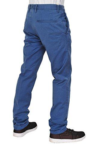 Incotex Pantalon Homme 32 Bleu / Chinos Taille normale Coupe régulière R