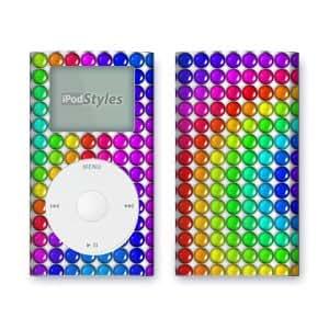 Application Systems Heidelberg - Skin para iPod Mini, diseño de gominolas, multicolor