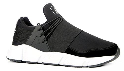 Asfvlt Sneakers Uomo, MOD. Area Evo, Colore Nero, Suola Bianca, Collezione SS18