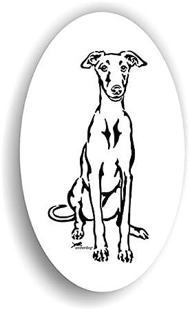 Amberdog Galgo Sticker Auto Aufkleber Art St0217 Aufkleber Wohnmobil Wohnwagen Küche Haushalt