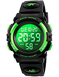 Kids Watch, Boys Sports Digital Waterproof Led Watches with Alarm Wrist Watches for Boy Girls Children