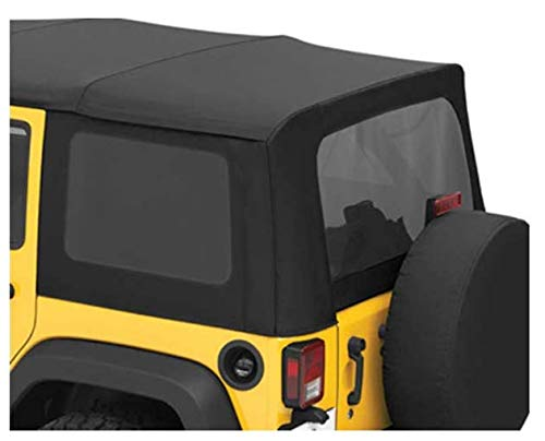 Bestop 58135-35 Black Diamond Tinted Window Kit for Sailcloth Replace-A-Top for 2011-2018 Wrangler JK Unlimited