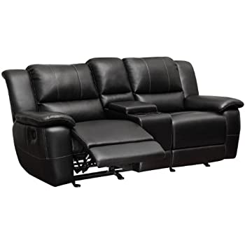 coaster home furnishings motion loveseat black