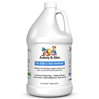 Best Pet Stain & Odor Remover | Industrial Strength Neutralizes & Eliminates Dog, Cat, & Animal Urine and Feces Smells on Carpets, Furniture | Non-Toxic | Miracle Enzyme Bacterial Digestor 1 Gallon