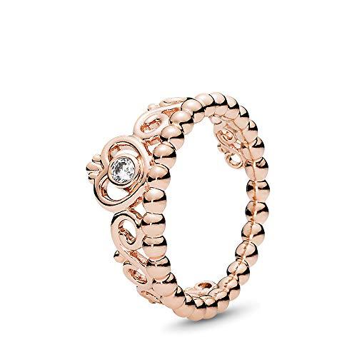 PANDORA My Princess Tiara Ring, PANDORA Rose, Clear Cubic Zirconia, Size 7