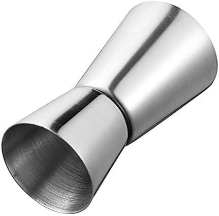 Queenwind ステンレス鋼ジガードリンクスピリットショット測定カップカクテルワインバーシェーカー 15-30ml