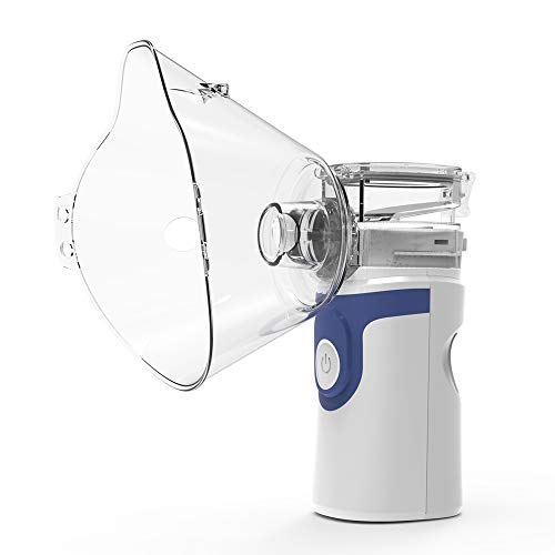 Hylotele Home Use Mini Handheld Silent Inhale Nebulizer Ultrasonic Atomization Device Adult Children Portable Atomizer Inhaler (Mini Portable Nebulizer)