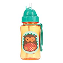 Skip Hop Zoo Straw Bottle, 12 oz, Hudson Hedgehog
