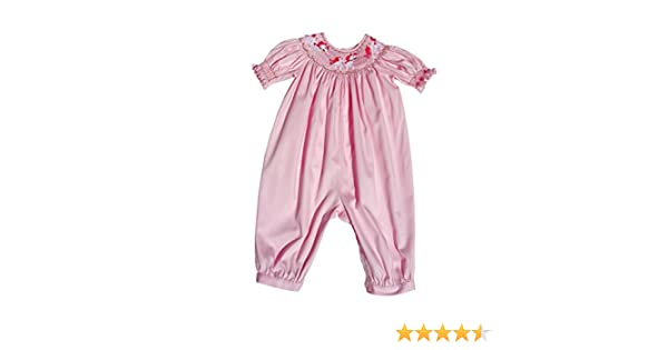 d8c62a7f3 Amazon.com: Carouselwear Baby Girls Pink Long Bubble Overalls Carousel  Horses: Clothing