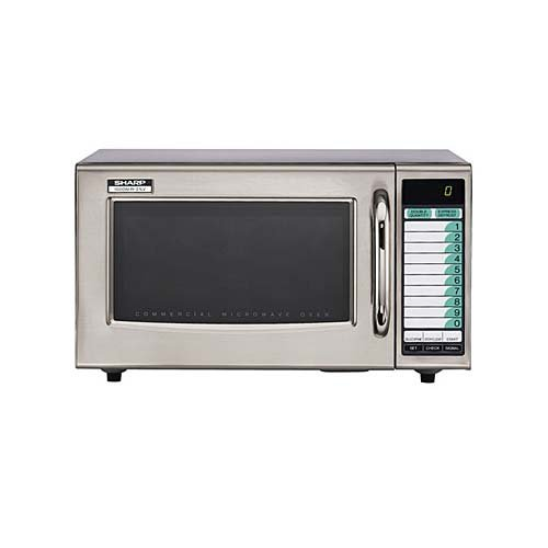 (Sharp Medium-Duty Commercial Microwave Oven (15-0429) Category: Microwaves, R-21LVF)