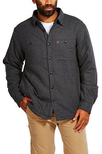 Coleman Jacket - Coleman Flannel Sherpa Shirt Jacket (Medium, Charcoal Heather)