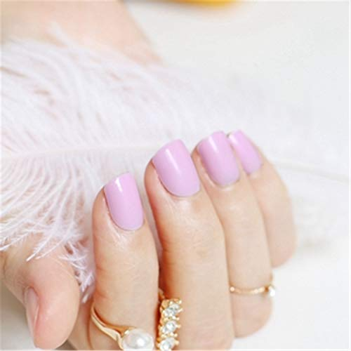 NEW Fashion Beautiful Candy Color Nail Finished False Nails Short Paragraph 24Pcs 54 Section Optional - Enfield Shorts