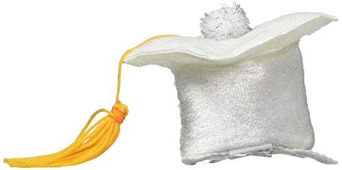 Grad Cap Hair Clip (white) Party Accessory  (1 count) (1/Pkg)]()