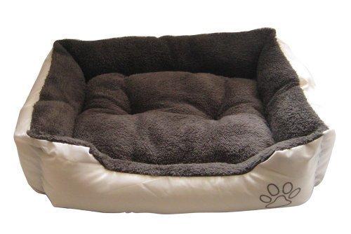 Morbida per cani, colore marrone scuro, Beige, NTD9745YR esterno ASC