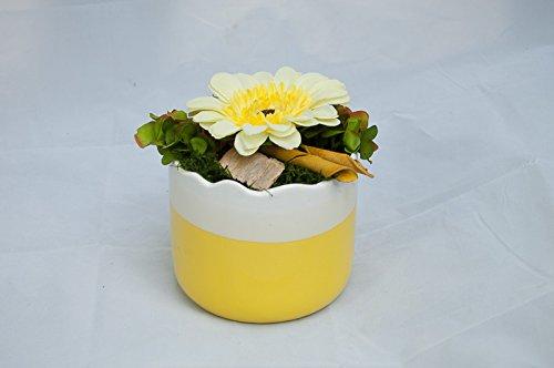 Centro de mesa redondo en amarillo/blanco - arreglo floral con ...