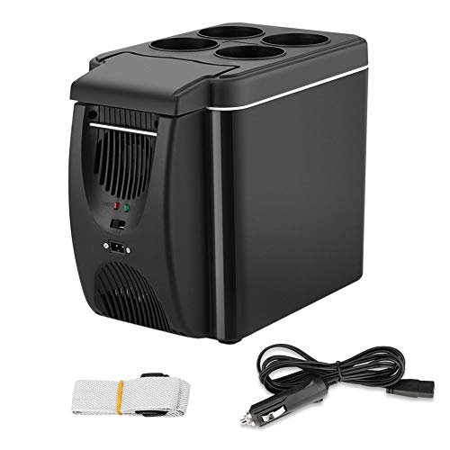 Price comparison product image 12V Mini Car Refrigerator Freezer Heater, 6L Mini Car Freezer Cooler & Warmer, Portable Electric Fridge Icebox Travel Refrigerator