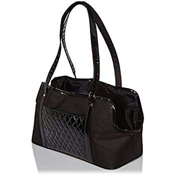 Image of Home and Kitchen Petote Ella Summer Pet Bag, Black Quilted
