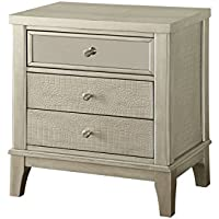 Furniture of America Liselle Contemporary Night Stand, One Size, Silver/Gray