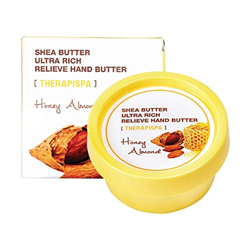 [THERAPISPA] Ultra Rich Relieve Hand Butter (Honey Almond) - Fast Absorbing, Cold Pressed Shea Butter - Best for Dry, Rough, Overworked Hands - 2.4 fl oz. ()