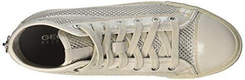 Zapatillas Off Ivory D Blanco para Mujer Altas White Giyo Geox C1661 q68EwRan
