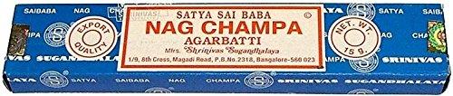 Set of 12 x 15g Boxes (180 grams) Incense Nag Champa (15g x 12 boxes)