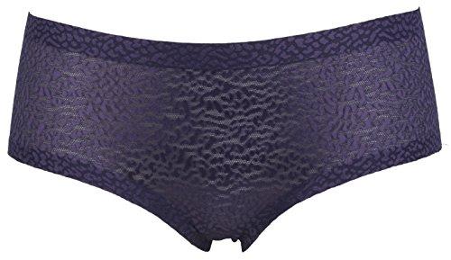 Ex Store diseño de estampado animal no VPL de bajo Rise pantalones cortos de malla morado