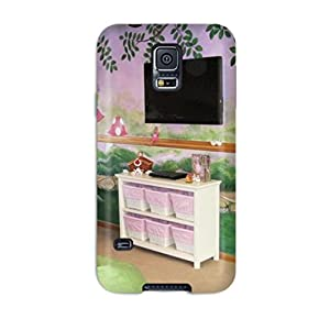 New Tpu Case Cover Compatible For NOTE 4/ Hot Case/ Fairy Garden Girls Playroom With Fairy Mural And Pink And Green Beanbag Chairs
